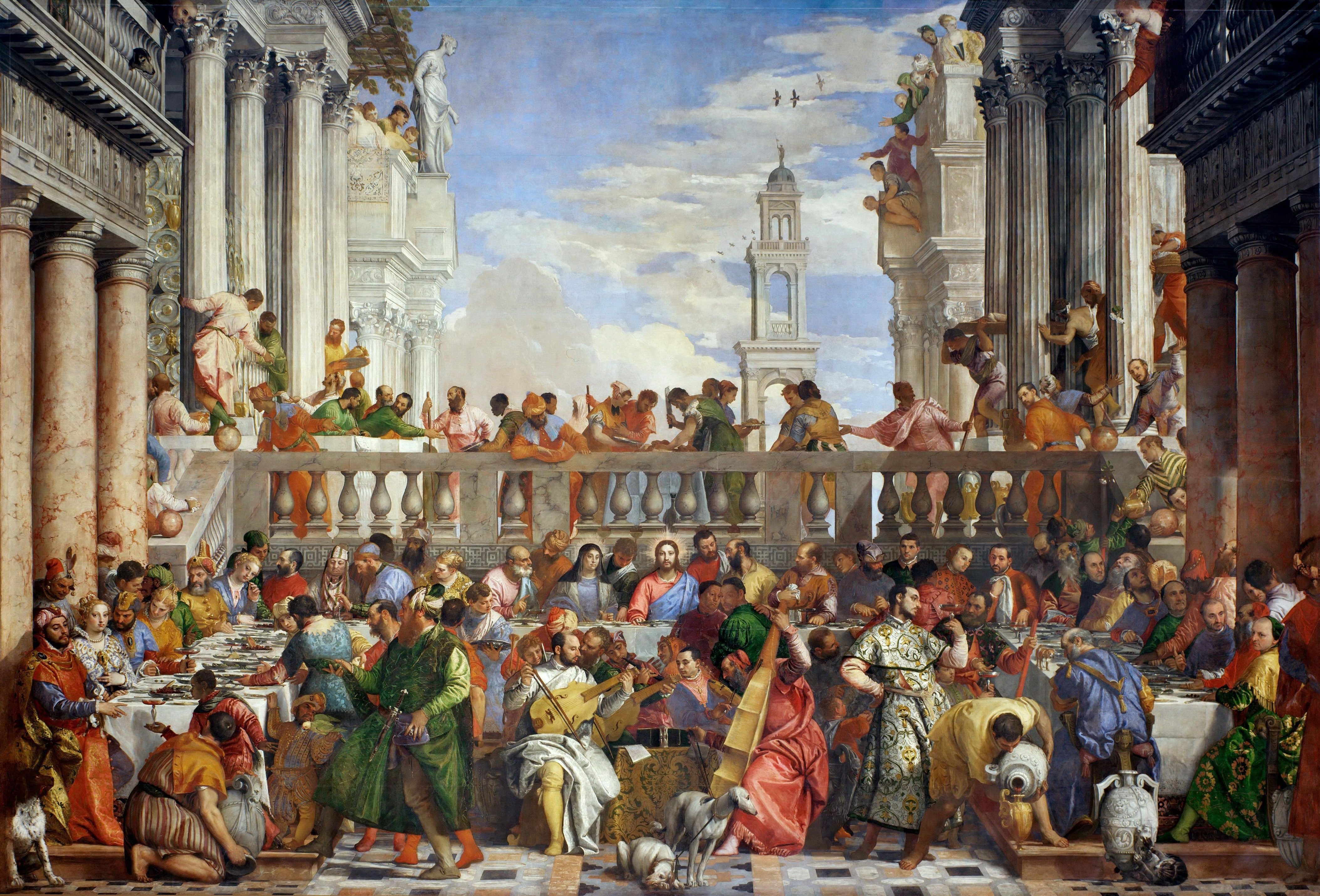 This image has an empty alt attribute; its file name is Wedding-at-Canaan-Paolo_Veronese_008.jpg